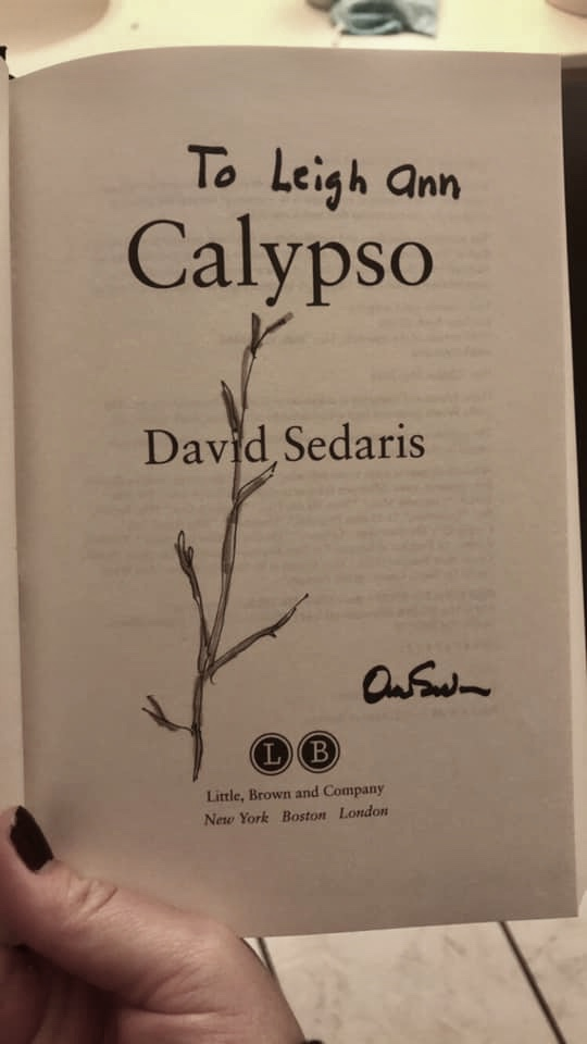 David sedaris calypso signed book