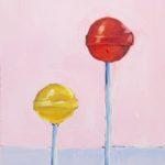 lollipop painting, acrylic painting, original artwork, Austin artist, Leigh Ann Torres
