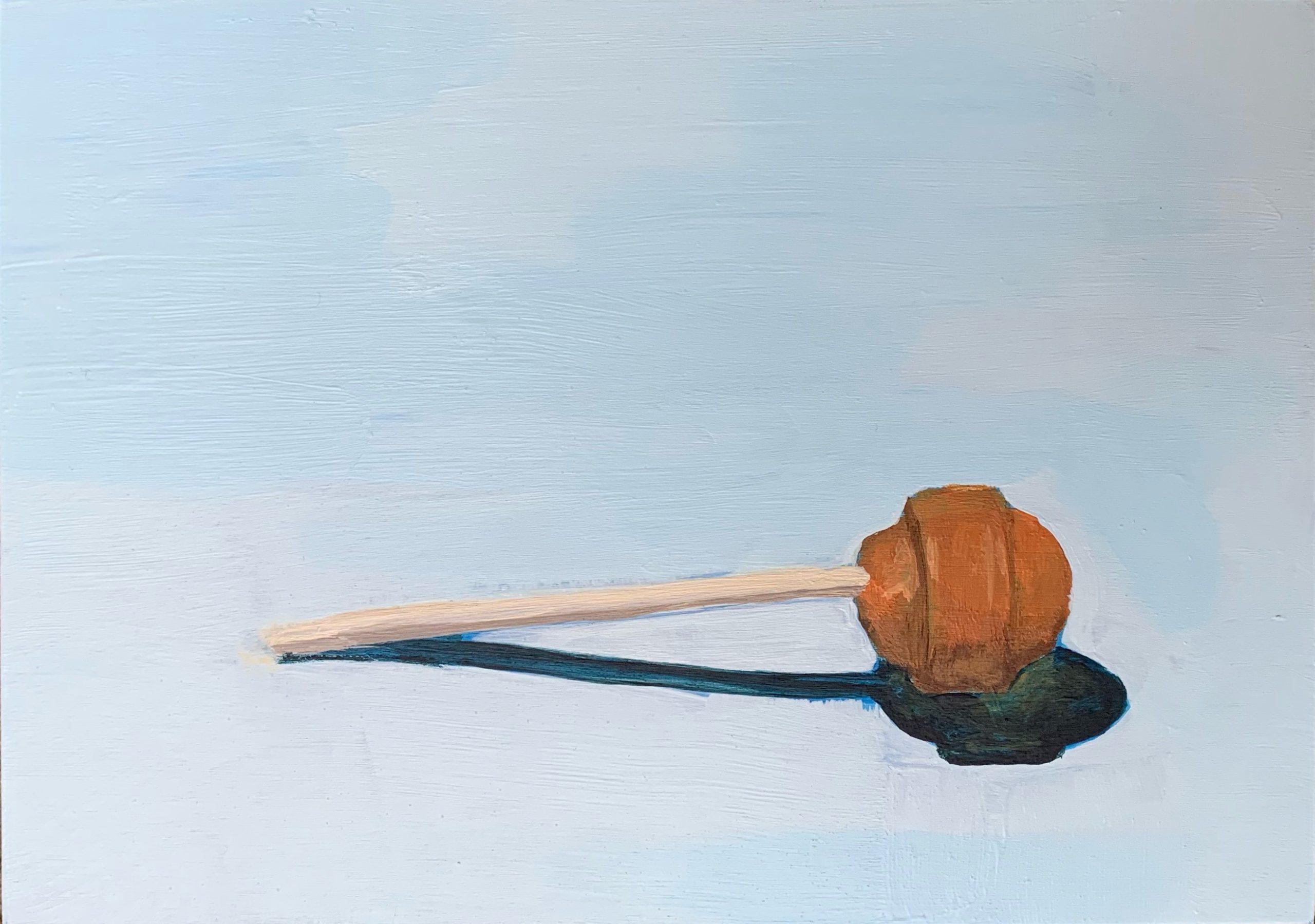lollipop painting, the last lollipop, acrylic painting, original art for sale, Leigh Ann Torres, Austin artist