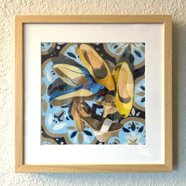 shoes I'm not wearing in quarantine, Leigh Ann Torres, original acrylic paintings