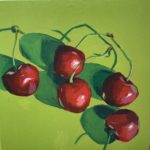 cherry painting, original acrylic painting, Leigh Ann Torres, Austin artist