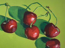 Cherries on Chartreuse