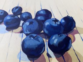 Blueberries on Notebook Paper