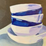 IKEA bowls, acrylic painting, original paintings, Leigh Ann Torres
