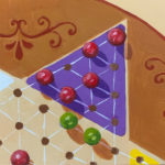 Chinese checkers, acrylic painting, Leigh Ann Torres