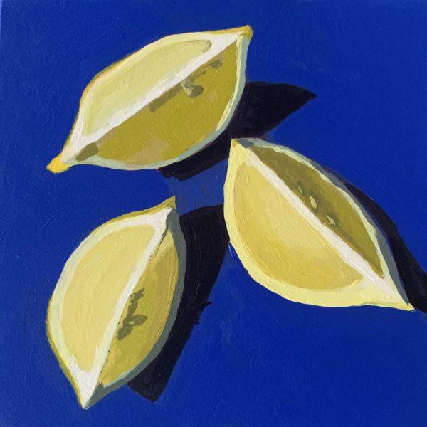 lemon slices, lemon painting, acrylic painting, original paintings, Leigh Ann torres