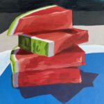 watermelon slices, watermelon painting, acrylic painting, Leigh Ann torres