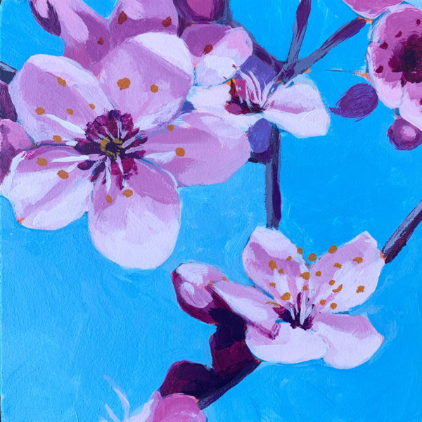 cherry blossom painting, Leigh Ann Torres, original acrylic paintings