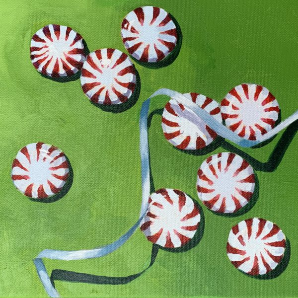 starlight mints, peppermints, acrylic paintings, Leigh Ann Torres
