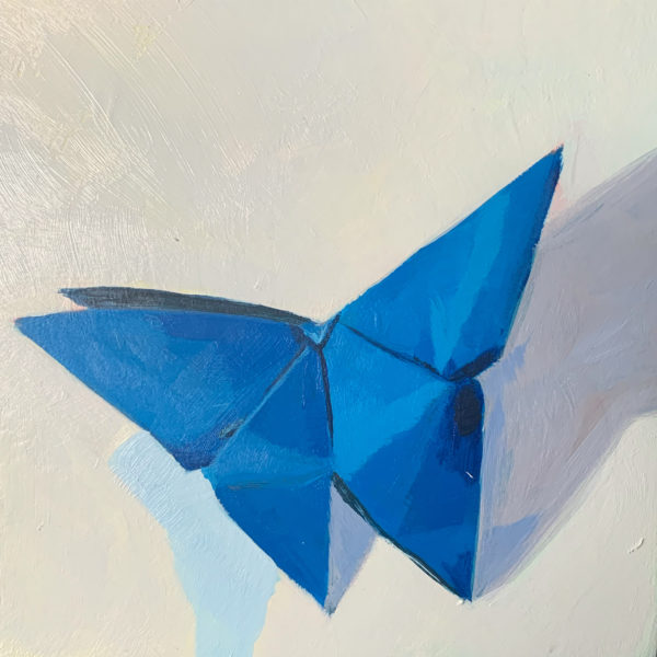 origami butterfly, acrylic paintings, Leigh Ann torres