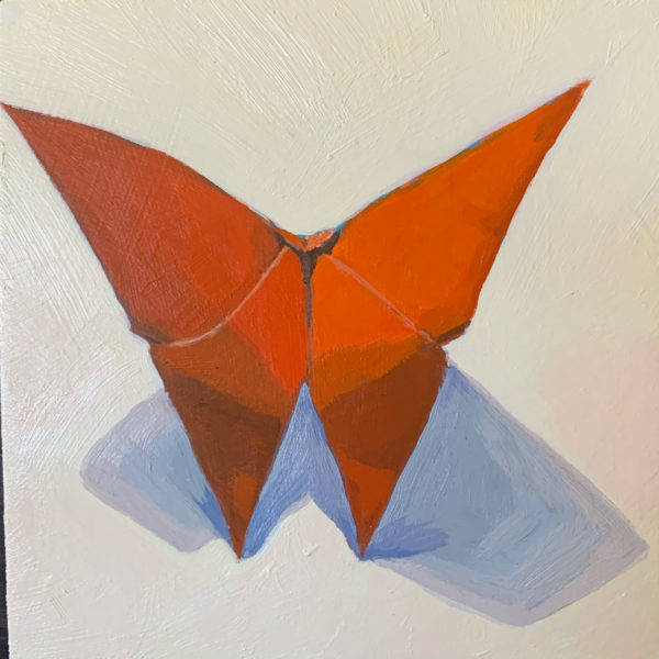 origami butterflies, original paintings, Leigh Ann torres