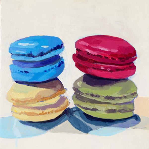 macaron painting, original acrylic painting, Leigh Ann Torres art