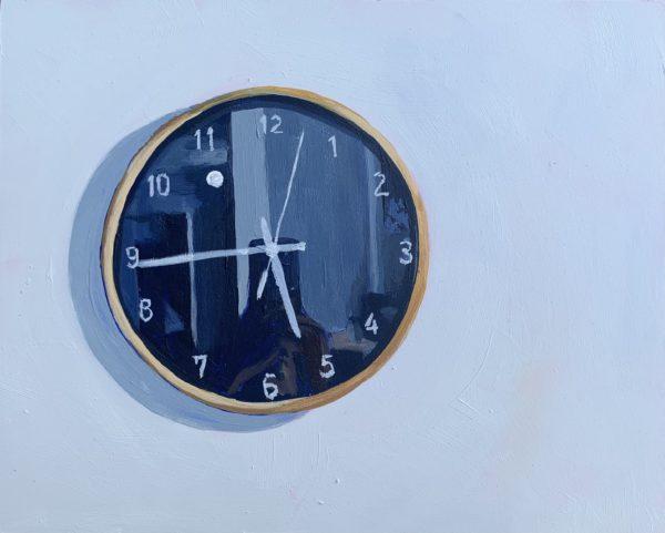 clock painting, original acrylic painting, Leigh Ann Torres