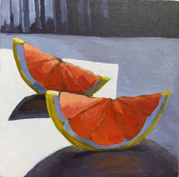 grapefruit painting, grapefruit slices, Leigh Ann Torres